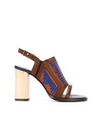 Sandalias de tacón de cuero marrónes de Thakoon Addition