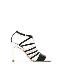 Sandalias de tacón de cuero negras de Mara Mac