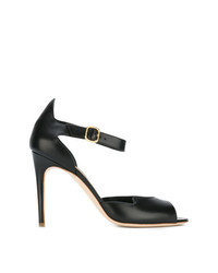 Sandalias de tacón de cuero negras de Rupert Sanderson