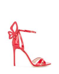 Sandalias de tacón de cuero rojas de Sophia Webster