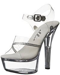 Sandalias de tacón de goma transparentes de Ellie Shoes