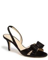 Sandalias de tacón de satén negras