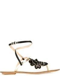 Sandalias doradas de Etro