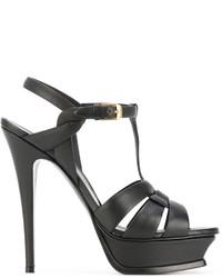 Sandalias negras de Saint Laurent