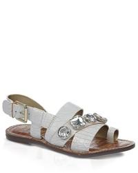 Sandalias planas blancas