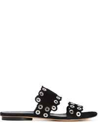 Sandalias planas de ante con tachuelas negras de Derek Lam