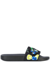 Sandalias planas de lentejuelas negras de MSGM