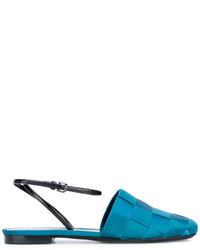 Sandalias planas en verde azulado de Marco De Vincenzo