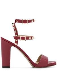 Sandalias rojas de Valentino