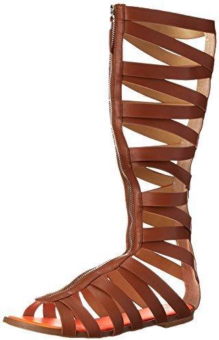 Sandalias romanas altas de cuero marrónes de gx by Gwen Stefani
