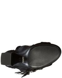 Sandalias romanas altas de cuero negras de Schutz