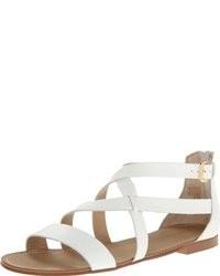 Sandalias romanas blancas