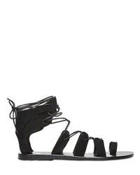 Sandalias romanas de ante negras