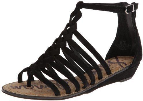 Sandalias romanas de ante negras de Sam Edelman