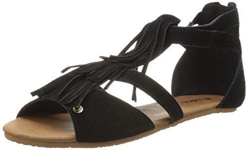 Sandalias romanas de ante negras de Volcom