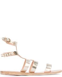 Sandalias romanas de cuero doradas de Ancient Greek Sandals