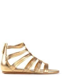 Sandalias romanas de cuero doradas de Car Shoe