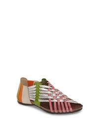 Sandalias romanas de cuero en multicolor