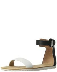 Sandalias romanas de cuero en negro y blanco de Chinese Laundry