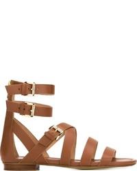 Sandalias romanas de cuero en tabaco de MICHAEL Michael Kors