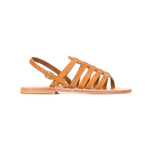 Sandalias romanas de cuero marrón claro de K. Jacques