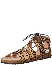 Sandalias romanas de cuero marrón claro de Loeffler Randall