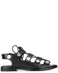 Sandalias romanas de cuero negras de Alexander Wang