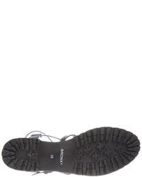 Sandalias romanas de cuero negras de Bronx
