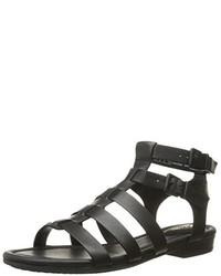 Sandalias romanas de cuero negras de Clarks