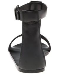 Sandalias romanas de cuero negras de Diesel