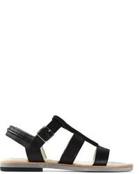 Sandalias romanas de cuero negras de Jil Sander Navy