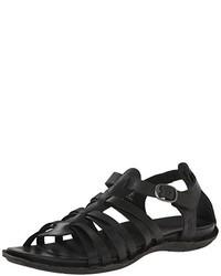 Sandalias romanas de cuero negras de Keen
