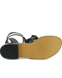 Sandalias romanas de cuero negras de Pour La Victoire