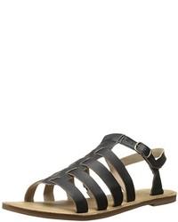 Sandalias romanas de cuero negras de Timberland