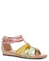 Sandalias romanas de cuero rosadas