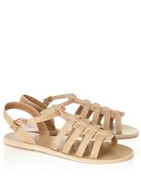 Sandalias romanas en beige