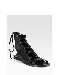 Sandalias romanas negras