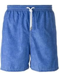 Shorts de baño azules de Kiton