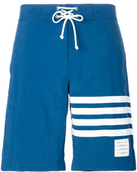 Shorts de baño azules de Thom Browne