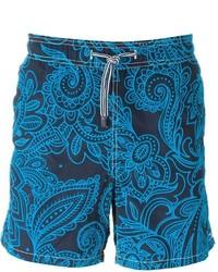 Shorts de baño en verde azulado de MC2 Saint Barth