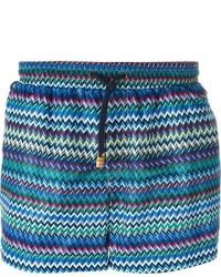 Shorts de baño en verde azulado de Missoni