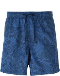 Shorts de baño estampados azul marino de Etro
