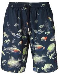 Shorts de baño estampados azul marino de La Perla