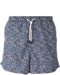 Shorts de baño estampados azules de Etro