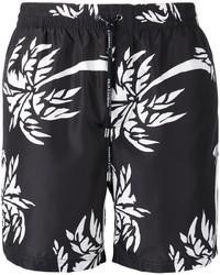 Shorts de baño estampados negros de Dolce & Gabbana