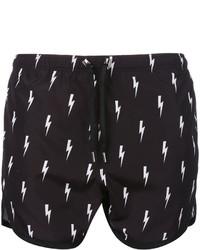 Shorts de baño negros de Neil Barrett