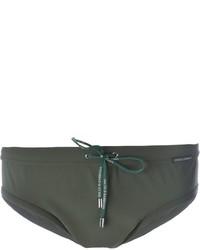 Shorts de baño verde oliva de Dolce & Gabbana