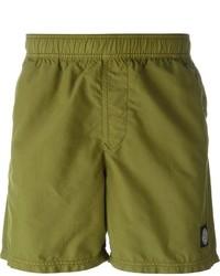 Shorts de baño verde oliva de Stone Island