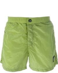Shorts de baño verdes de Stone Island