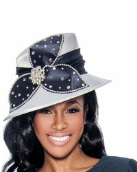 Sombrero con adornos azul marino